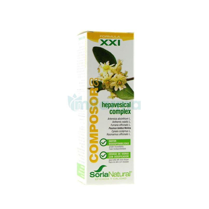 Composor 3 Formula XXI Hepavesical Complex 50ml SoriaNatural