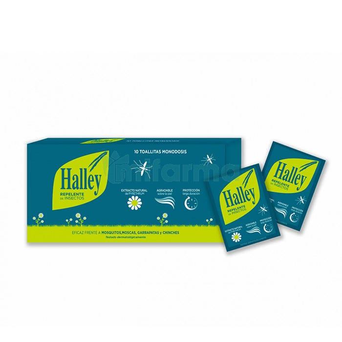 Halley Repelente de Insectos en 10 Toallitas