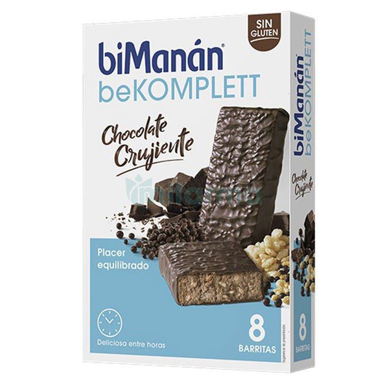 Bimanan Be Komplett Barritas Chocolate Crujiente 8Uds