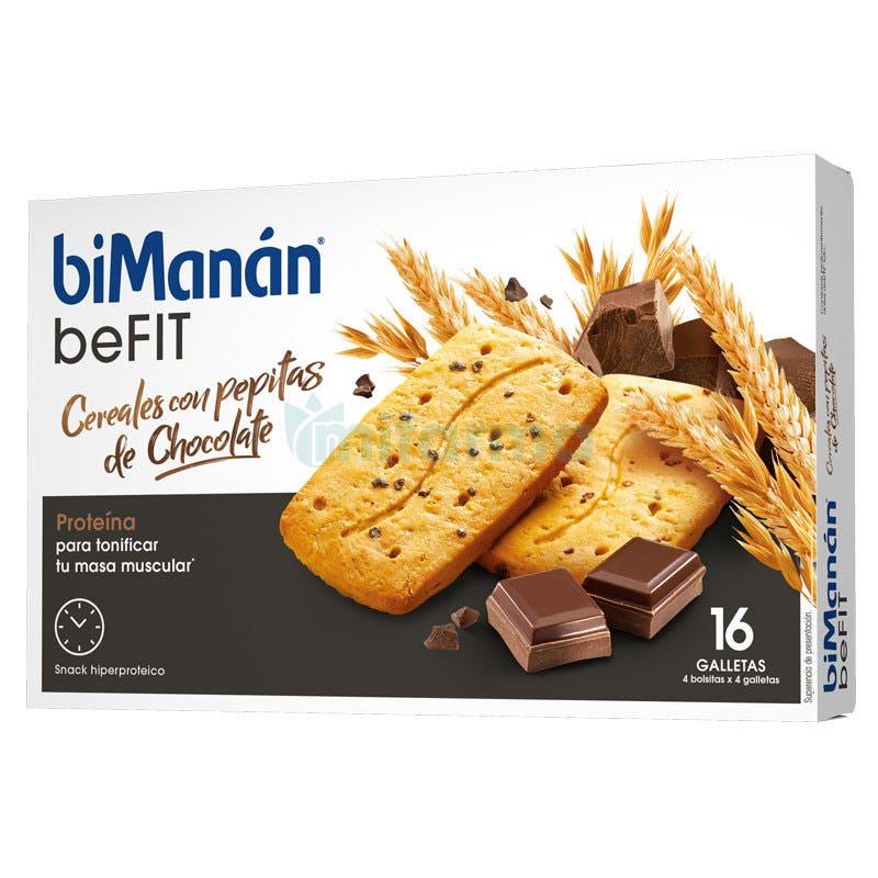 Bimanan Be Fit Galletas Cereales con Pepitas Chocolate 16Uds
