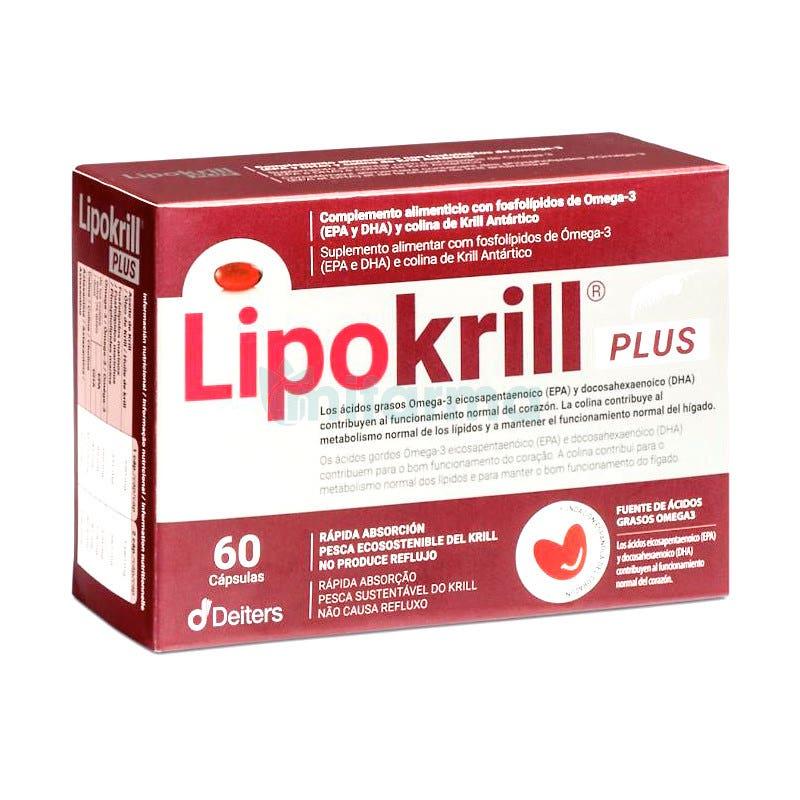Lipokrill Omega 3 de Krill Antartico 60 Capsulas Deiters