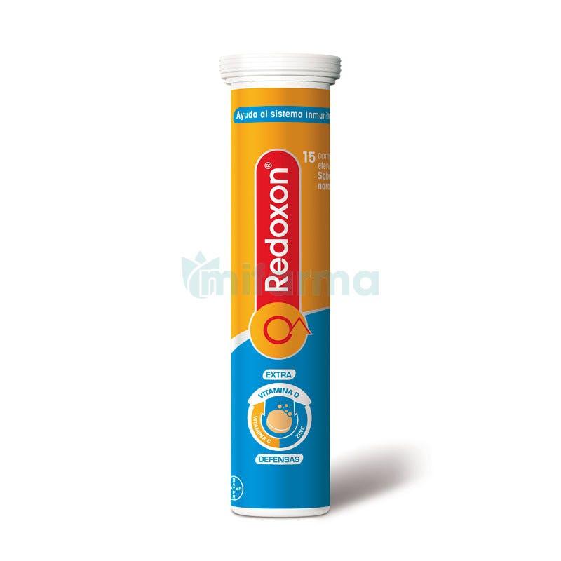Redoxon Extra Defensas Naranja 15 Comprimidos Efervescentes