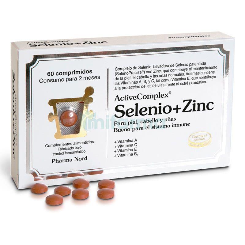 Antioxidantes ActiveComplex Selenio Zinc 60 Comprimidos Pharma Nord