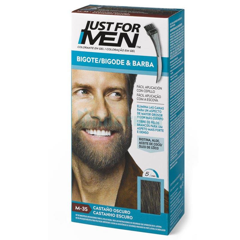 Just For Men Coloration Barbe et Moustache Châtain Moyen