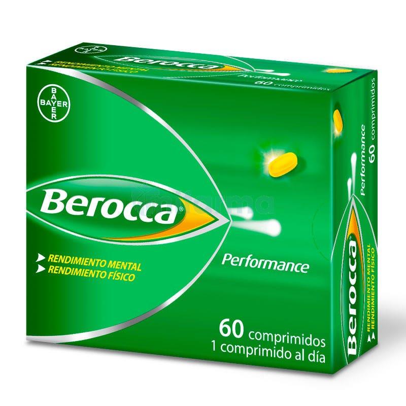Berocca Performance Vitaminas y Rendimiento Bayer 60 Comprimidos