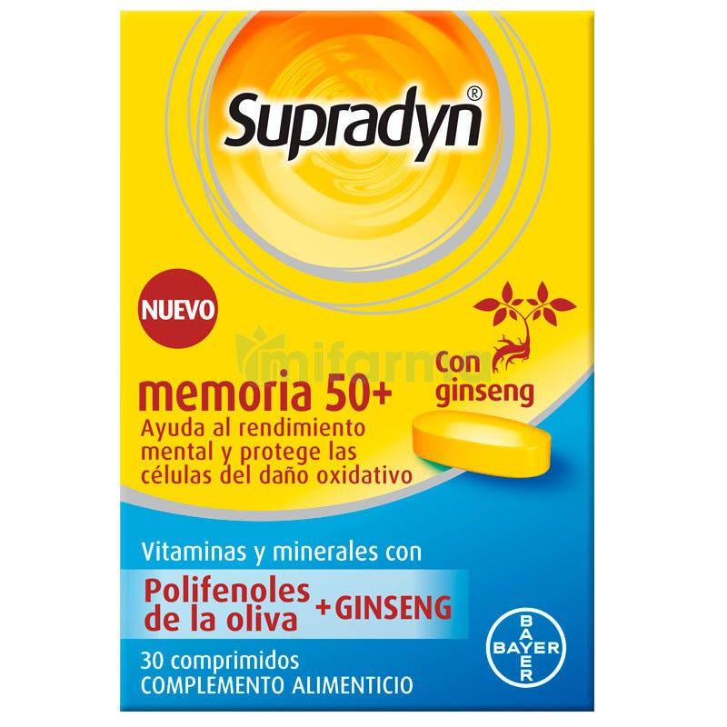 Supradyn Memoria  50 Anos Vitaminas 30 Comprimidos
