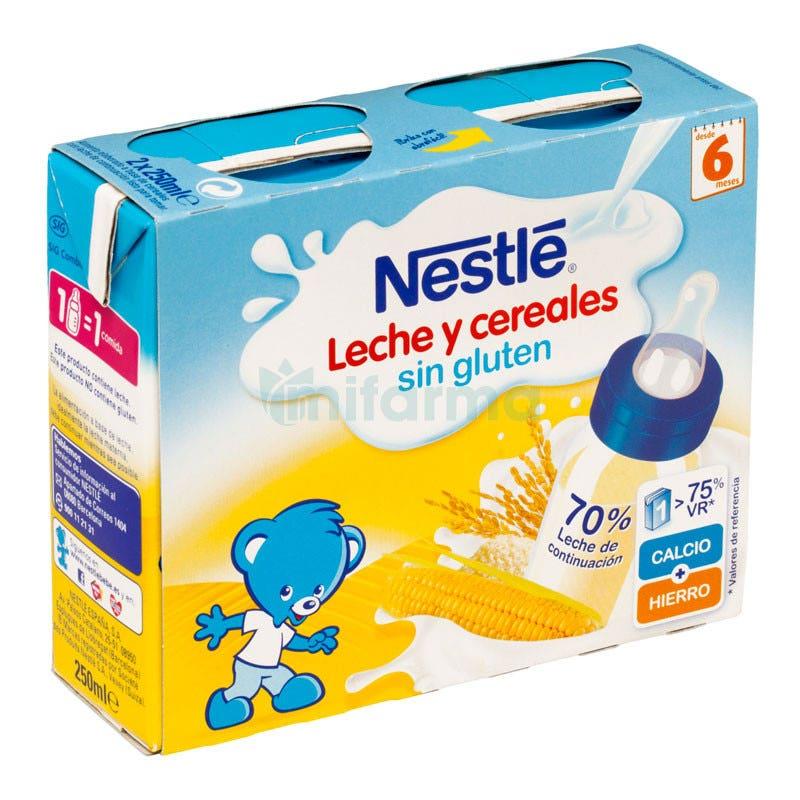 Nestle Leche y Cereales Sin Gluten 6m 2x250ml