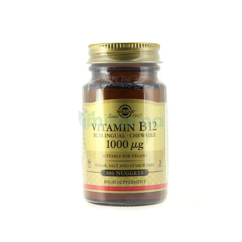 Solgar Vitamina B12 1000 mcg (Cianocobalamina) 100 comp