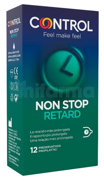 Préservatifs Control Non Stop Retard 12 Unités