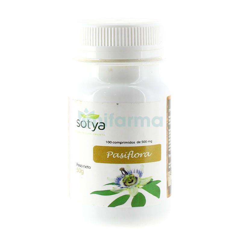 Pasiflora 500 mg Sotya 100 Comprimidos
