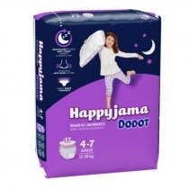 Dodot Happyjama Couche-culotte T7 17-29Kg x17 ROSE