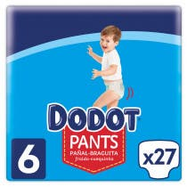 Pañales Dodot Pants Talla 6 +15Kg 28Uds