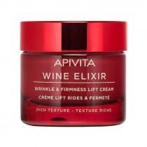 Crema Antiarrugas y Reafirmante Efecto Lifting Wine Elixir Textura Rica Apivita 50ml
