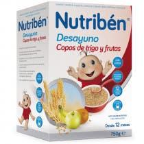 Nutriben Desayuno Copos de Trigo y Fruta 750g
