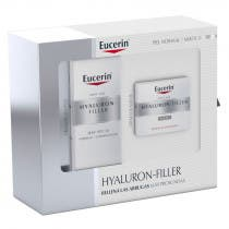 Hyaluron Filler Dia Piel Mixta Eucerin 50ml   Crema Noche 50ml   2 Ampollas 5ml