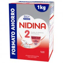 Nidina Premium 2 Leche de Continuacion 1 Kg  Formato Ahorro   6meses