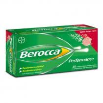 Berocca Performance Sabor Frutos del Bosque Bayer 30 Comprimidos Efervescentes