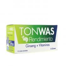 Tonwas Rendimiento Ginseng   Vitaminas 10 viales