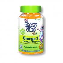 Omega 3  Vitaminas y Minerales Ninos Chewy Vites TLC 60 Uds