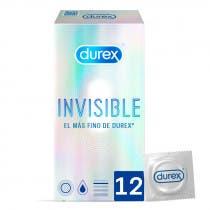 Durex Invisible Preservativo Extrafino Extrasensitivo 12 Unidades