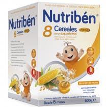 Nutriben 8 Cereales y Miel Fibra 600 Gramos