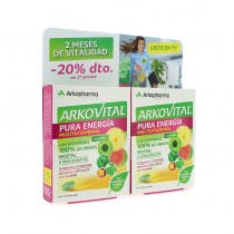 Arkopharma Arkovital Multivitaminico Pura Energia 30 Comprimidos   30 Comprimidos DUPLO