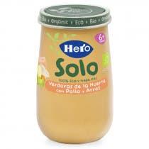 Solo Verduras de la Huerta con Pollo y Arroz Hero Baby 190g