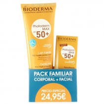 Pack Bioderma Photoderm Max Leche Solar SPF50 250ml Aquafluido SPF50 40ml