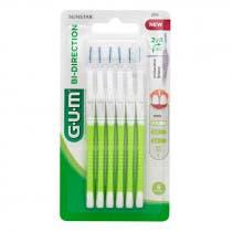 Cepillos Interdentales Bi-Direction 0,7mm Gum Verdes 6Uds