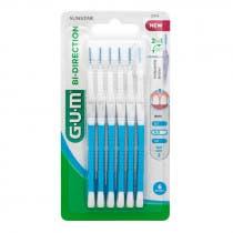 Cepillos Interdentales Bi-Direction 0,9mm Gum Azules 6Uds