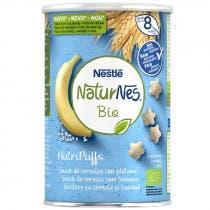 Nutripuffs Snack de Cereales con Platano Naturnes BIO 5 Porciones