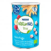 Nutripuffs Snack de Cereales con Frambuesa Naturnes BIO 5 Porciones