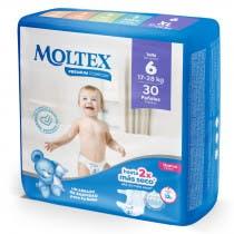 Panales Moltex Premium Comfort Talla 6 17-28Kg 30uds