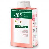 Pack Duplo Klorane Champu Extracto De Peonia de China 400ml
