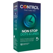 Préservatifs Control Non Stop Dots & Line 12 Unités