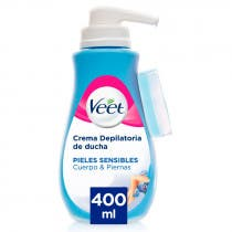 Crema Depilatoria Ducha Piel Sensible Veet 400ml
