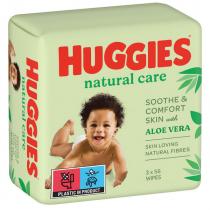 Lingettes Huggies® Natural Care Aloe Vera x 168