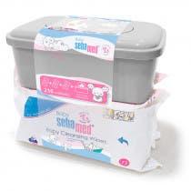Pack Triplo Toallitas Limpiadoras Baby Sebamed 72Uds Caja Dispensadora