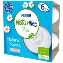 Yogur Natural Naturnes Bio  6m 4x90gr