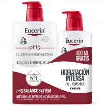 Eucerin pH5 Locion Enriquecida 1000ml Botella 400ml GRATIS