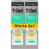 Neutrogena T/Gel® Pellicules Grasses Shampoing Antipelliculaire 2 x  250ml