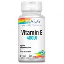 Vitamina E 400 IU Solaray 50 Perlas