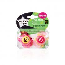 Tomme Tippee 2 Chupetes Fun Style Silicona 18-36m