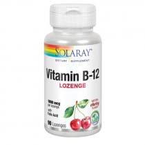 Acido Folico 1000mg y Vit.B12 Solaray 90 Comprimidos Sublinguales