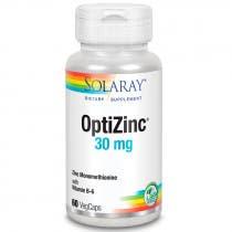 Optizinc (Zinc y Vitamina B6) Solaray 60 Capsulas