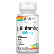 L-Glutamina 500mg Solaray 50 Capsulas Vegetales