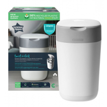 Tommee Tippee Poubelle à Couches Twist&Click Blanc