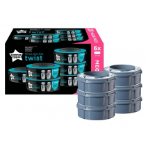 Recambios Contenedor Panales Sangenic Twist Click Tommee Tippee 6Uds