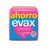 Compresas Evax Cottonlike Normal Alas 64Uds (4x16Uds)