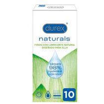 Durex Naturals Preservativos Finos Lubricante Natural 10 Uds